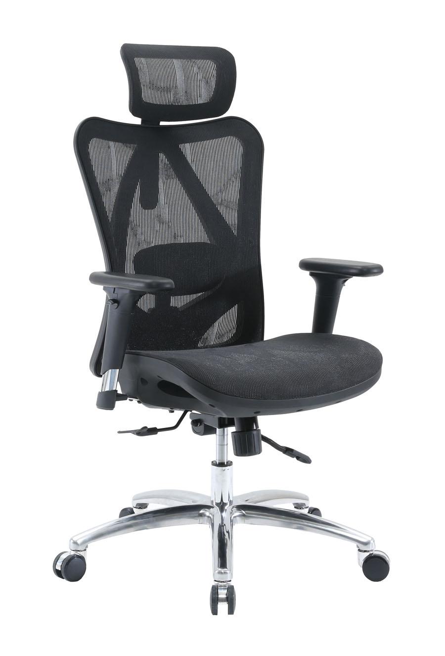 KB-1_人體工學椅_電腦椅_黑框黑網_正斜面照片