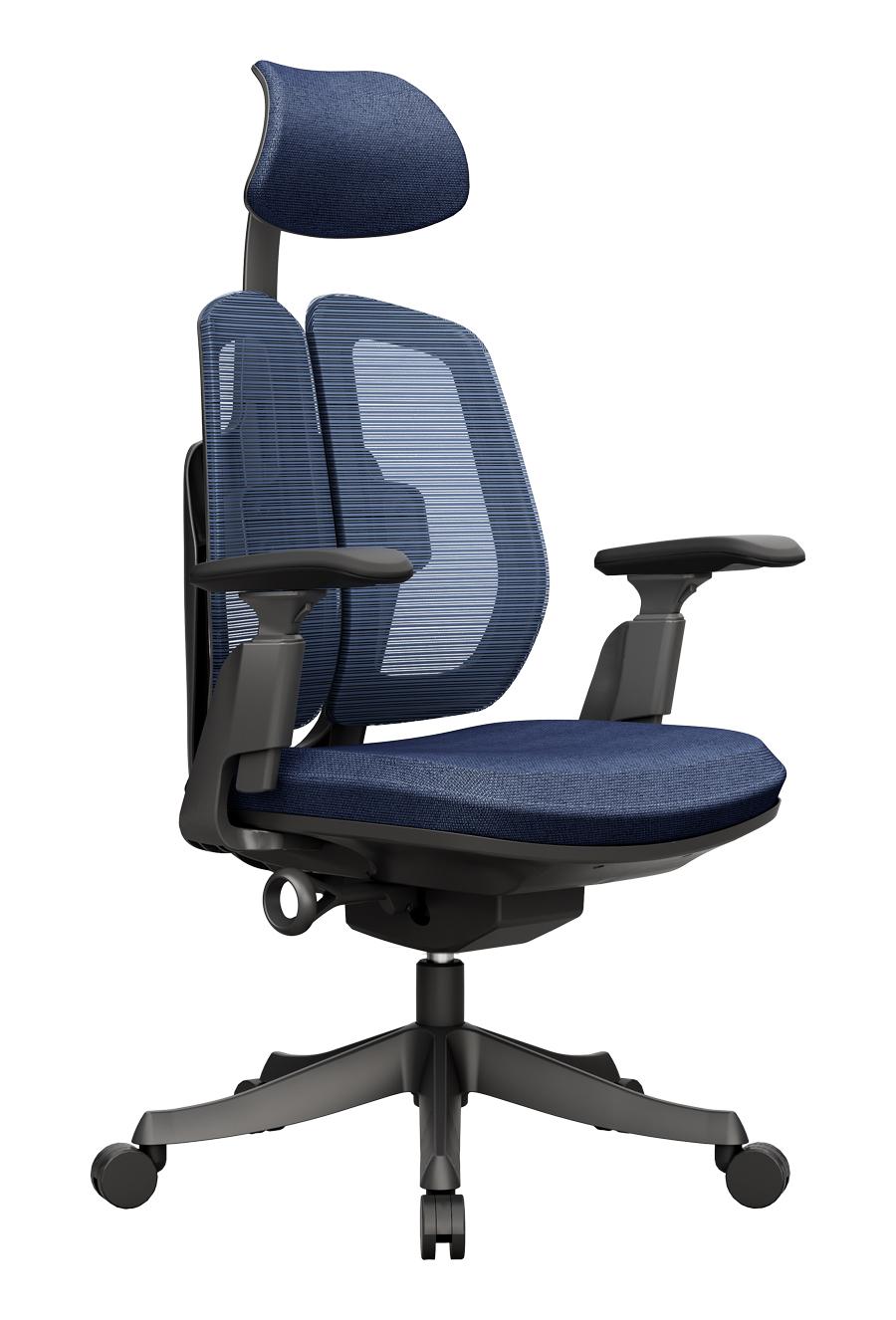 Dualmax_電腦椅_雙背椅_藍色_正斜面照片